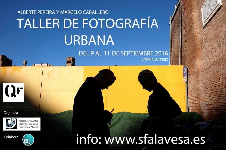 Cartel Taller de fotografía de Quitar Fotos en Vitoria